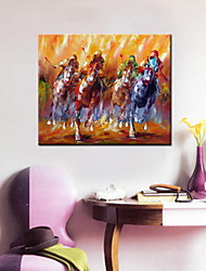 Oil Paintings One Panel Modern People Racing Hand-painted Canvas Ready to Hang