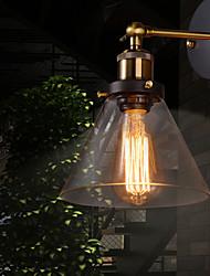 maishang® luz retro parede com sombra de vidro floral e suporte de metal