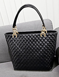 Handcee® Most Popular Woman PU Fashion Quilting Tote Bag