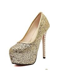 Women's Shoes Glitter Platform Platform/Closed Toe Pumps/Heels Party & Evening Gold