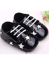 Zapatos de bebé - Planos - Exterior / Vestido / Casual - Semicuero - Negro / Rojo / Oro