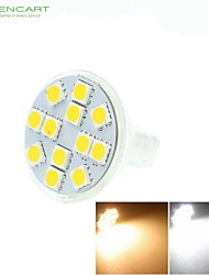 7W GU4(MR11) Spot LED MR11 12 SMD 5060 450-550 lm Blanc Chaud / Blanc Froid / Blanc Naturel Gradable / DécorativeDC 12 / AC 12 / AC 24 /