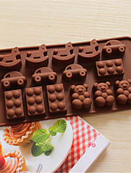 Bakeware Trojans Car Bear Baking Molds Chocolate Mold Cookies Mold Ice Mold