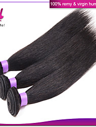 Brazilian virgin hair straight Unprocessed brazilian straight hair extension human hair weave For Sale