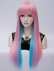 Double Color Synthetic Wig Womens'  Hair High Quality synthetic Wigs