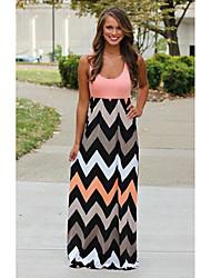 HD Women's Sexy/Casual Round Sleeveless Dresses
