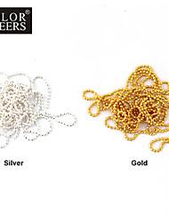 Steel Ball Chain Nail Decorations (1m, verschillende kleuren)