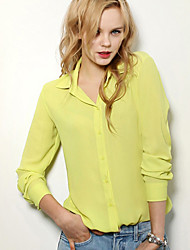 A STYLE Women's Sexy Elegant Casual Shirt Collar Long Sleeve Casual Shirts