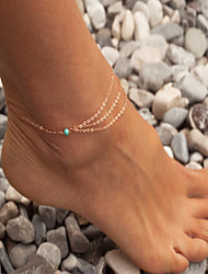 Bohemian Anklet Turquoise Barefoot Sandals Bride Anklet 1pc Jewelry Christmas Gifts