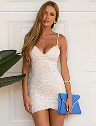 Women's Strapless Lace Dress