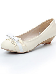 Girls' Shoes Casual Heels/Round Toe  Flats Pink/Beige