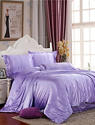 Mingjie gelo seda neve azul lixar cama conjuntos 4pcs define capa de edredão queen size e king size