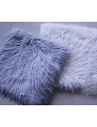 Brand New Long Faux Fur Chair Cushion / Seat Pad (Silver White)