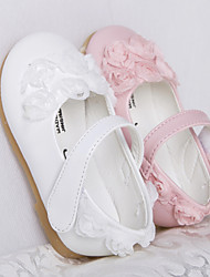 Baby Shoes Casual Leather Flats Pink/White
