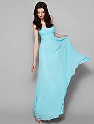 Lanting Bride® Floor-length Georgette Bridesmaid Dress - A-line Sweetheart Plus Size / Petite with Criss Cross