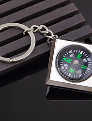 Survival Compass Keychain Alloy Outdoor Camping Hiking Key Ring Organizer
