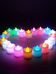 24PCS LED Charging Color Candle Light Creative Romantic Wedding Decoration Party Supplies (Random Color)