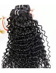 """Pc 1 lotto 8 """"-24"""" capelli brasiliani del Virgin # 1b profondo dei capelli umani dell'onda fasci capelli ricci per le donne afro"""
