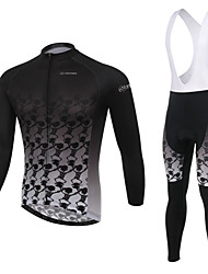 WEST BIKING® Men's MTB Clothing Suit Wicking Cycling Bib Ancient Pattern Long Suit Breathable Long Sleeves Bib Pants