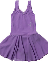Children Girl's One-Piece Sleeveless Ballet Leotard/Gymnastics Costume/Dancing Practising Dancwear  for 3~14 Years