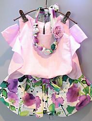 Kid's Suit , Chiffon/Cotton Beach/Casual/Cute Biubiu