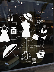 Wall Stickers Wall Decals, Modern Women's clothing store mannequins PVC Wall Stickers