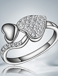 S925 Silver Plated Heart Design Ring