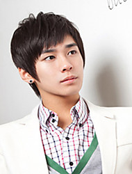 South Korea Fashion Students Hair Handsome Face Of Black Wig