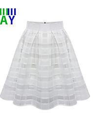 ZAY Women's Casual/Work Chiffon Skirts More Colors
