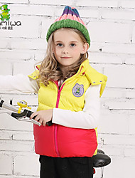 Girl's Winter Fall Thick White Duck Down Coats Sleeveless Cotton Padded Vests Kids Jackets Clothes Children Clothing