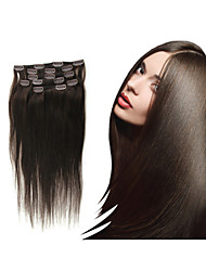 """1pc/lot 100g/pc Clip In Hair Extension18""""-30"""" Brazilian Human Hair Natual Hair Extensions All Colors In Stock"""