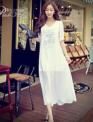 Pink Doll®Women's V Neck Beach/Casual ½ Length Sleeve Midi Dress
