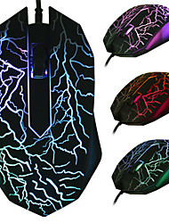 Beitas USB Wired Mouse 2400DPI 3 Buttons Optical Gaming Game Mouse 7 Colors LED for PC Laptop Computer
