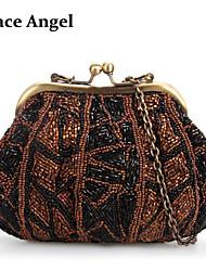 Women's Full Hand Beaded Clutch Purse Bag Party Prom Evening Wedding Handbag