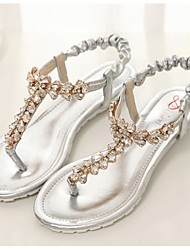 Women's Shoes  Flat Heel Sandals Casual White/Silver