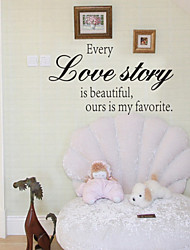 Wall Stickers Wall Decals Style Every Love Story English Words & Quotes PVC Wall Stickers