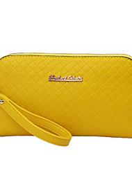 Wedding Newest Women Evening Bags Plaid Grain Wallets Colorful Handbags PU Wristlets Clutches Long Strap Shoulder Bags