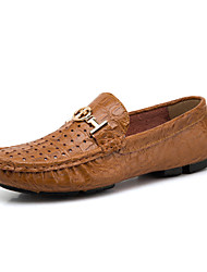 Men's Oxfords EU38-EU50 Office & Career/Party & Evening/Casual Fashion Slip-on Nappa Leather Shoes
