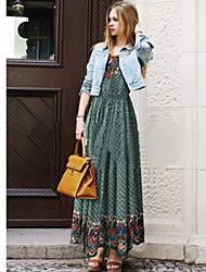 Robes ( Polyester ) Vintage/Informel/Soirée Courroies à Sans manche pour Femme