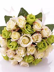 Special Round Artificial Silk Bridal Bouquets