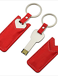 16gb mini metallo regalo chiave flash drive USB con custodia in pelle