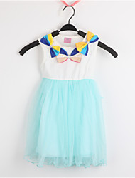 Kid's Dress,Cotton / Mesh Cute HS