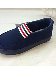 Boys' Shoes Casual Fabric Loafers Black/Blue/Burgundy
