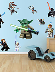 Wall Stickers Wall Decals, Cartoon Lego Robot Monster PVC Wall Sticker
