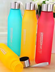 600ml pc Sportcamping reisen tragbaren frosted Wasserflasche