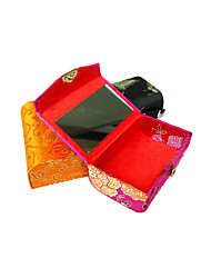 Pajiatu Silk Lipstick Case Holder Boxes with Mirror Inside (Assorted Colors)