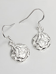 S925 Silver Drop Earring Design for Women Rose Design Drop Earring Fashion Fine Accessories