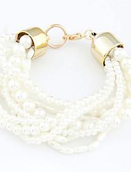 Bracelet - en Alliage/Imitation Perle - Vintage/Mignon/Soirée - Perlé/Perle