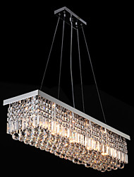 Tiffany LED K9 Crystal Ceiling Pendant Light Chandeliers Lighting Hanging Lamps Fixtures with 100CM*25CM CE UL FCC