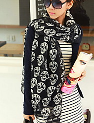 Women Cute Casual Skull Scarf Scarves Shawls
